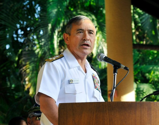 Adm. Harry B. Harris, Jr., commander of U.S. Pacific Fleet in Honolulu, Hawaii on March 13, 2015. US Navy Photo