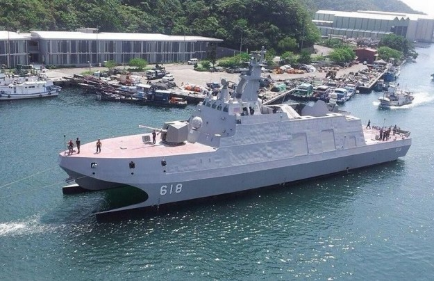Taiwan Navy's Tuo Jiang corvette commissioned in late 2014.