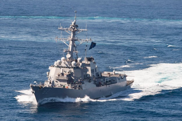USS Lassen (DDG-82) operating in U.S. Southern Command in February 2016 on its way to Mayport, Fla. US Navy Photo