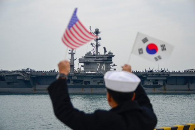 Carrier USS John C. Stennis Arrives in Korea For Port Visit, Exercises