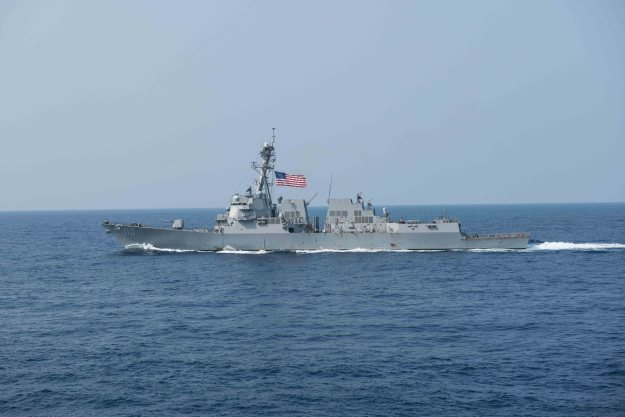 U.S. Destroyer Passes Near Chinese Artificial Island in South China Sea Freedom of Navigation Operation