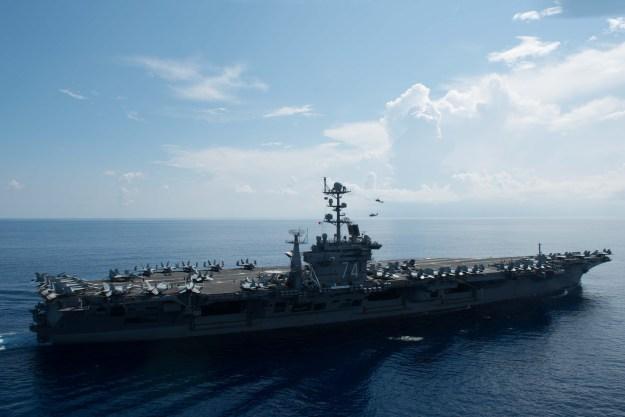 USS John C. Stennis (CVN-74) on May 20, 2016. US Navy