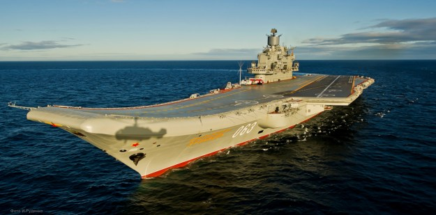 Admiral Kuznetsov aircraft carrier in 2012. Russian Ministry of Defense Photo