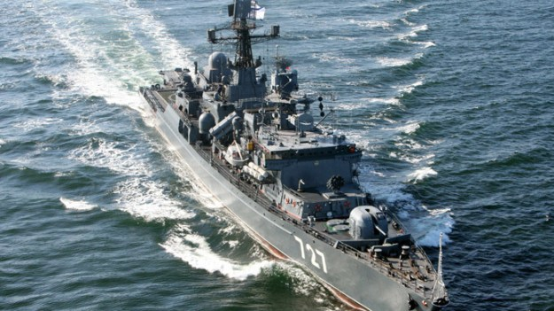 Russian Frigate Yaroslav Mudry (FF-777) before teh ship's hull number was changed. RIA Novosti Photo