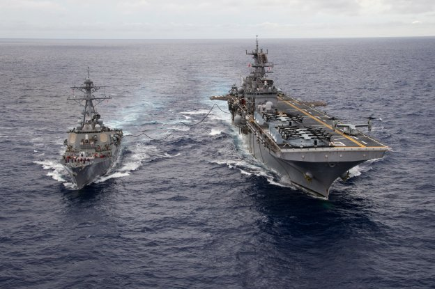 Amphib, Destroyer Pairing Seen In High-End Exercise, Current 6th Fleet Operations