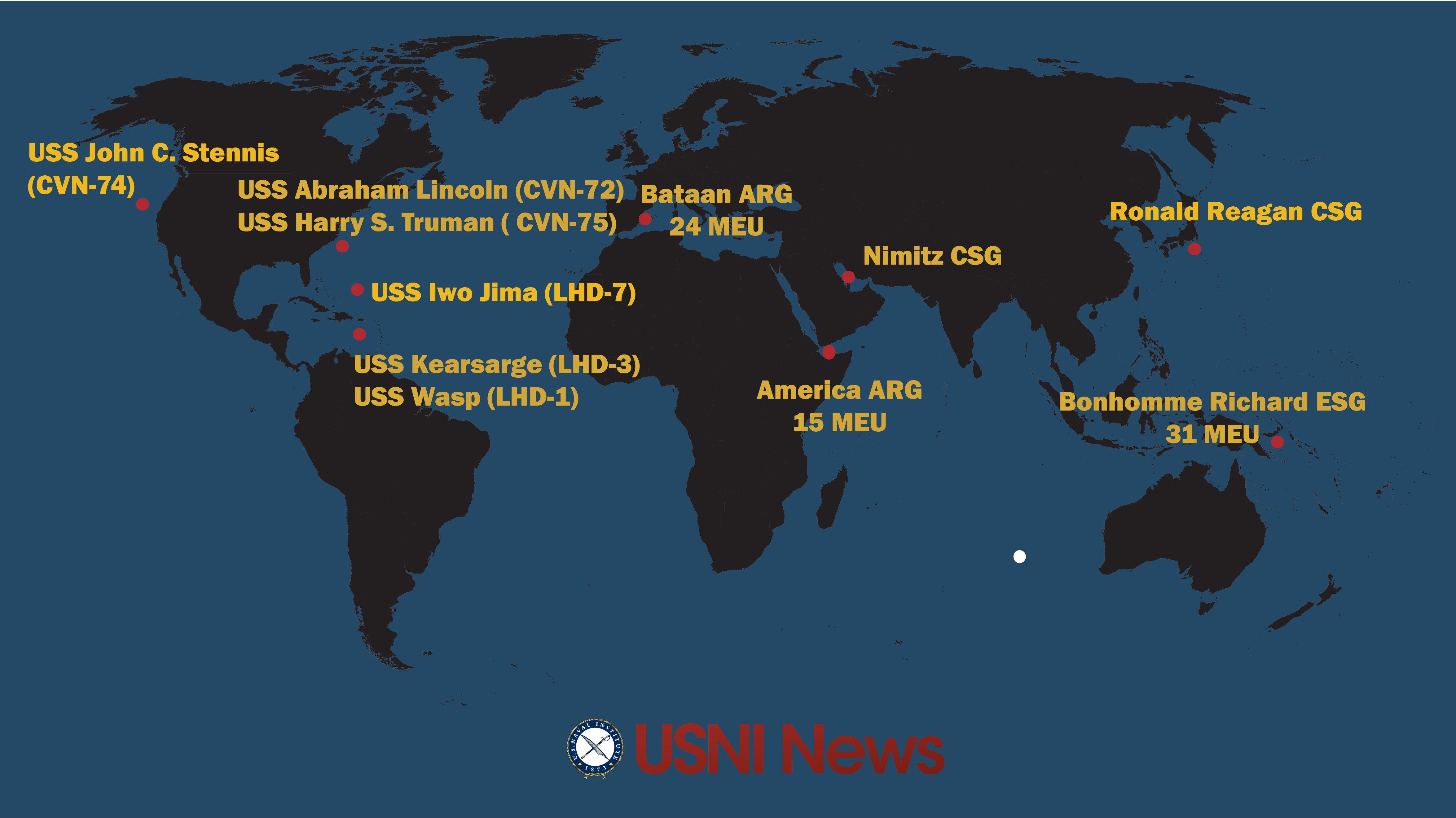 USNI News Fleet and Marine Tracker Aug 7 2017