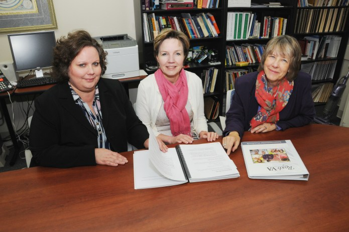 (From left) Jennifer Martindale-Adams, EdD; Teresa Waters, PhD; and Linda Nichols, PhD, will examine data from previous studies to see if caregiver interventions reduce health care costs. Not pictured, is co-investigator, Robert Burns, MD.