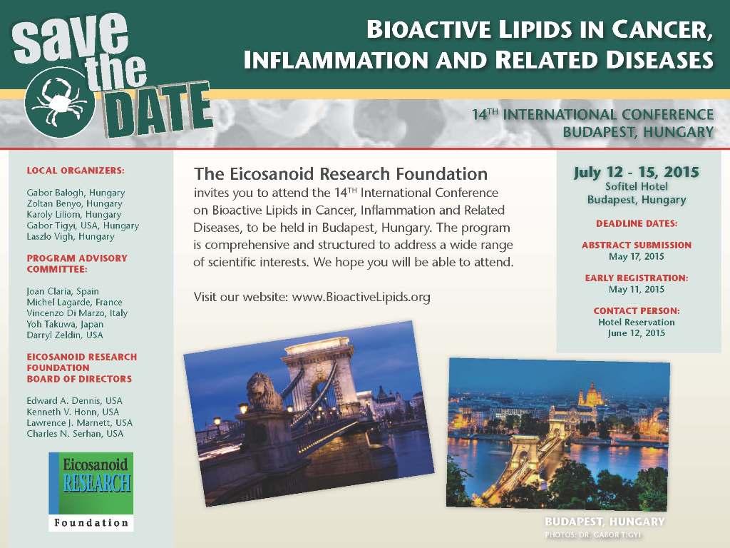 Bioactive Lipids Conference_Budapest2015