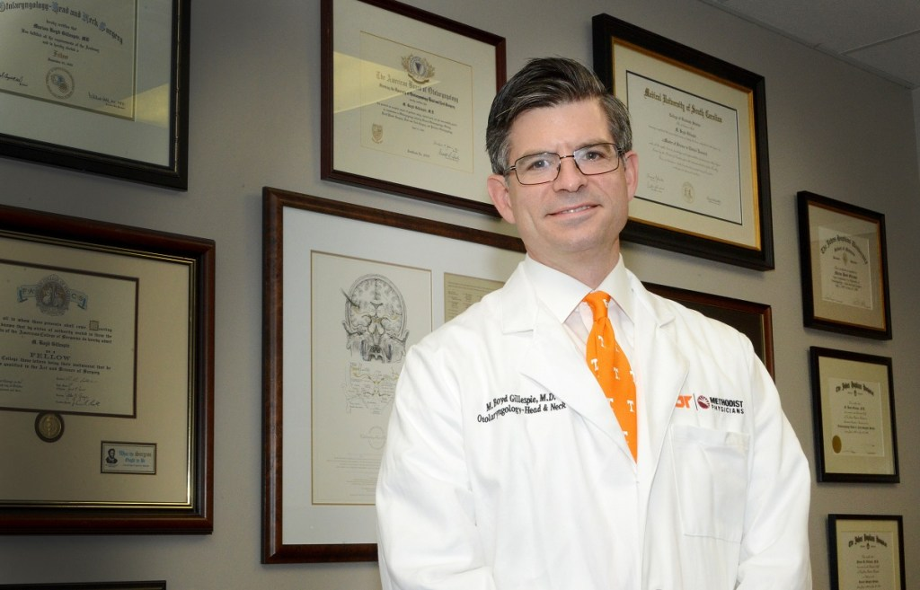 As the new chair of the Department of Otolaryngology at UTHSC, Dr. M. Boyd Gillespie aims to increase numbers of those who train, encourage innovation and stimulate research in the field.