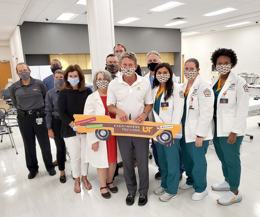 """UT System President Randy Boyd made UTHSC a stop on his """"Everywhere you Look, UT"""" tour and met  with  UTHSC leadership and students and faculty of the UTHSC Physician Assistant Program."""