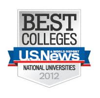 2012 US News undergratuate rankings