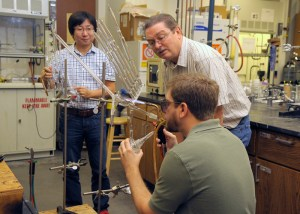Jimmy Mays in his lab with students.