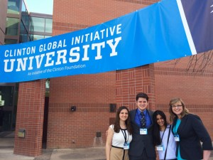 Left to right: Summer Awad, Jacob Clark, Anagha Uppal, and Brianna Rader at Clinton Global Initiative University.