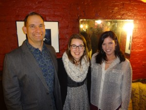From left, Brent Trentham, Molly Schaeffer and Rachel Trentham