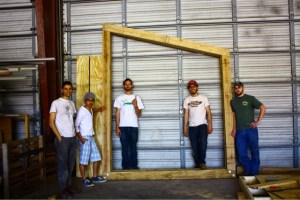 From left, architecture students Paul Attea, Sherif Sugiyama, Wilson Kessel, Noah Poor and Tyler Rasnake.