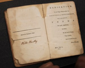 Wheatley's Poems on Various Subjects, Religious and Moral.