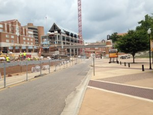 Work continues on the new Student Union.
