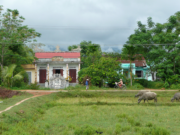A home in the rural area of the central highlands of Vietnam.