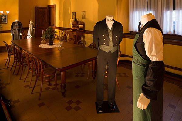 Downton costume exhibition shoot