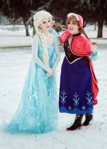 Sisters Rachel Clift, left, and Laura Clift transform into princesses for children's parties.