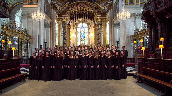 The Chamber Singers inside Saint Paul's Cathedral in London.