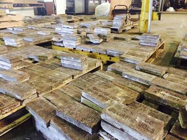 Bricks in warehouse