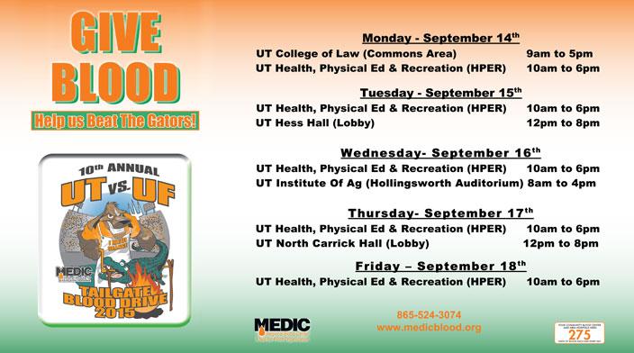 UT VS Florida 2015 Campus Schedule-704x392