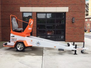 "The Center for Transportation Research's ""Seat Belt Convincer."""