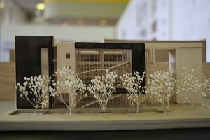 A model created by Austin Fleming and Beasley Chantharath was part of the students' award-winning entry for the 2015 Brewer Ingram Fuller Sustainable Design Award.
