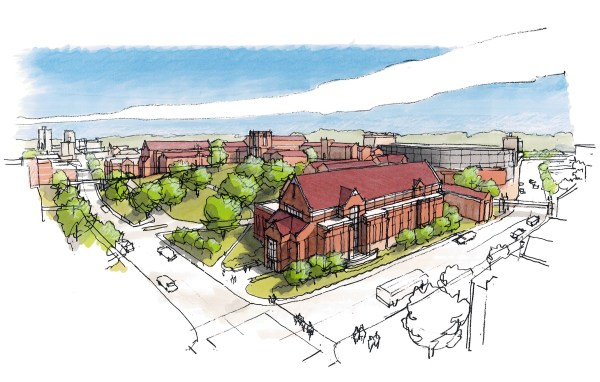 Master Plan Rendering - View of The Hill from Cumberland