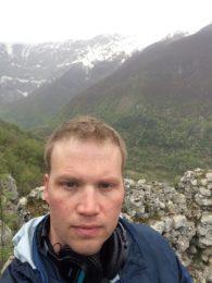 Associate Professor of Music Brendan McConville in Italy in 2016.