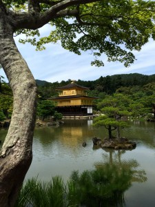 Golden Temple in Kyoto, Japan.
