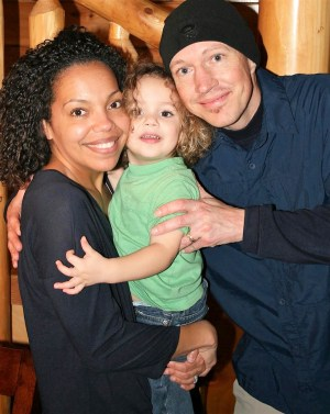 Chisa Huffman, UT nursing graduate, with her son, EJ, and husband, Edward.