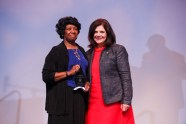 Hardy Liston Symbol of Hope Award - Professor Carolyn Hodges and Chancellor Davenport.