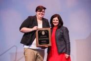 LGBT Student Leadership Award - Sarah Swinford and Chancellor Davenport.