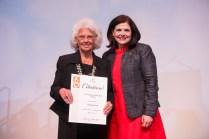 Chancellor's Citation for Extraordinary Customer Service - Glenda Hurst and Chancellor Davenport.