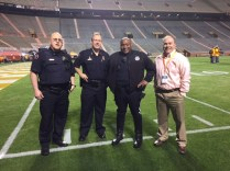 UTPD's Ralph Moles, Keith Lambert, Tim Cutwright, and Brian Browning of Finance and Administration.
