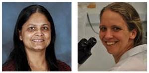 Sindhu Jagadamma, left, and Rachel Patton McCord