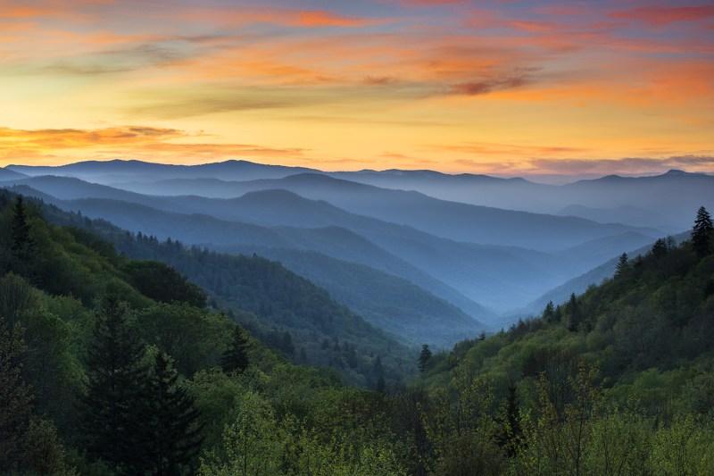 Sunrise Great Smoky Mountains National Park
