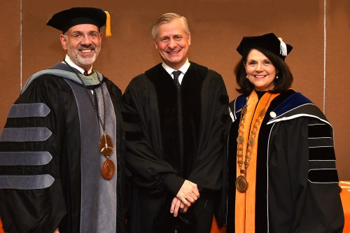 2017 fall commencement at Thompson Boling Arena with Pulitzer Prize winner and honorary Degree recipient  guest speaker Jon Meacham