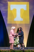 Outstanding students and faculty members are recognized during the Chancellor's Honor Banquet at the Knoxville Convention Center on Tuesday, April 17, 2018. Photo by Erik Campos 41234