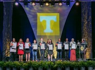 Outstanding students and faculty members are recognized during the Chancellor's Honor Banquet at the Knoxville Convention Center on Tuesday, April 17, 2018. Here are the student winners of the Torchbearer Award...Photo by Erik Campos..41234
