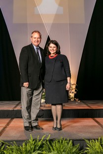 Outstanding students and faculty members are photographed with Chancellor Beverly Davenport before the Chancellor's Honor Banquet at the Knoxville Convention Center on Tuesday, April 17, 2018...Photo by Erik Campos..41234