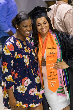 Graduates of the University of Tennessee's Haslam College of Business participate in Commencement at Thompson-Boling Arena on Thursday, May 10, 2018...Photo by Erik Campos