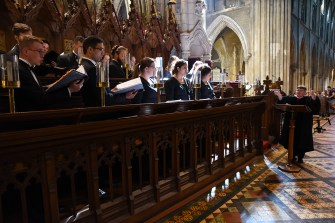 The UT Chamber Singers sing Choral Evensong at St. Patrick's Cathedral in Dublin, Ireland