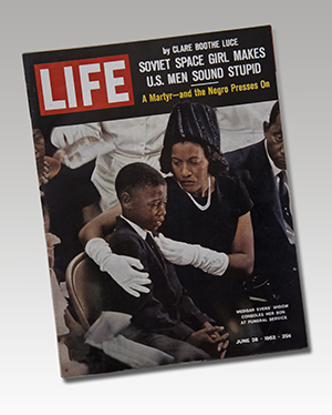 Medgar Evers Funeral, Life Magazine, June 28, 1963. From the NEH on the Road exhibition For All the World to See: Visual Culture and the Struggle for Civil Rights. 2011. Photo: E. G. Shempf.