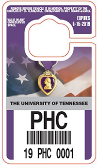 image of Purple Heart parking pass