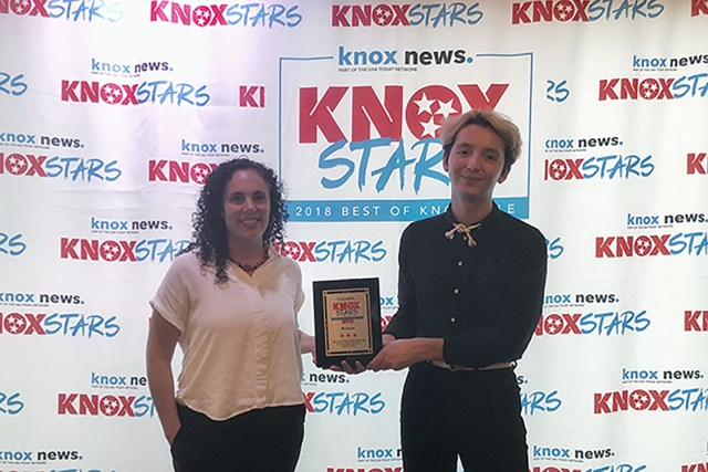 McClung Museum Staff Accept Knox Star Award