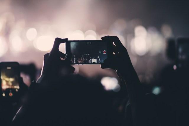 social media at a concert