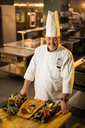 Chef Greg Eisele inside the UT Conference Center kitchen on March 05, 2019. Photo by Steven Bridges
